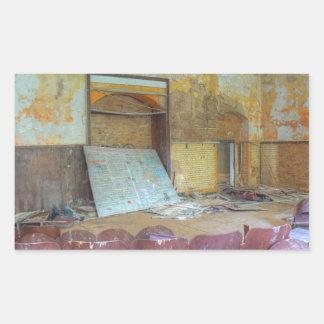 Adesivo Retangular Auditório 01,0, lugares perdidos, Beelitz