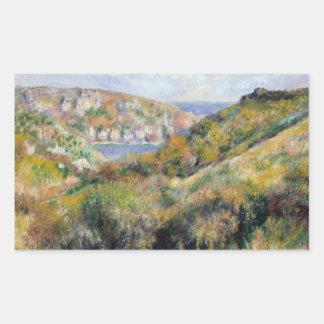 Adesivo Retangular Auguste Renoir - colinas em torno da baía