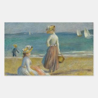 Adesivo Retangular Auguste Renoir - figuras na praia