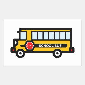 Adesivo Retangular Auto escolar