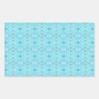 Adesivo Retangular azul
