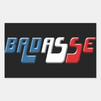 ADESIVO RETANGULAR BADASSE FRANÇA