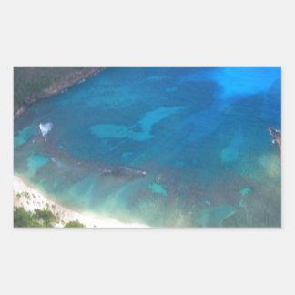 Adesivo Retangular Baía Havaí de Hanauma