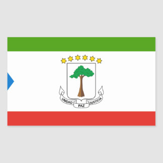Adesivo Retangular Baixo custo! Bandeira da Guiné Equatorial