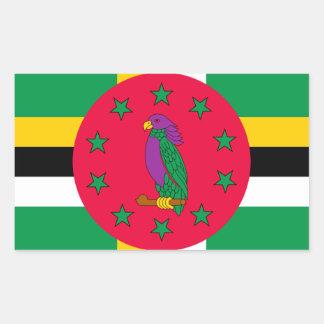 Adesivo Retangular Baixo custo! Bandeira de Dominica