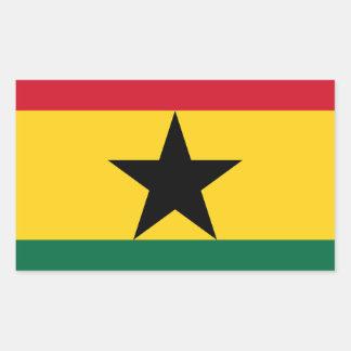 Adesivo Retangular Baixo custo! Bandeira de Ghana