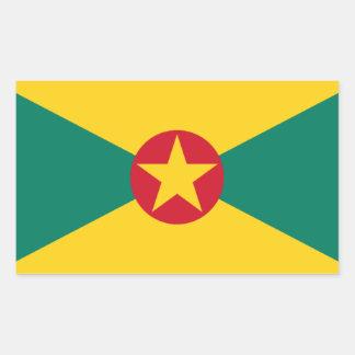 Adesivo Retangular Baixo custo! Bandeira de Grenada