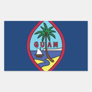 Adesivo Retangular Baixo custo! Bandeira de Guam