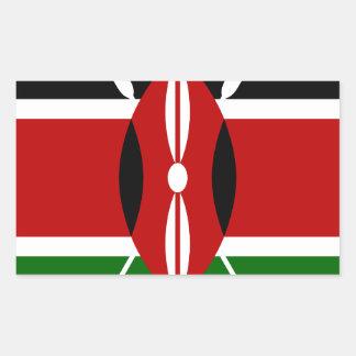 Adesivo Retangular Baixo custo! Bandeira de Kenya