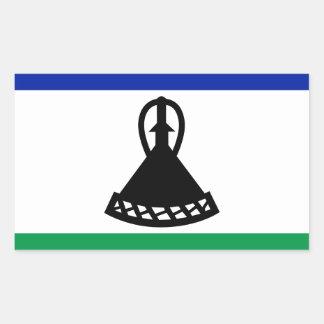 Adesivo Retangular Baixo custo! Bandeira de Lesotho