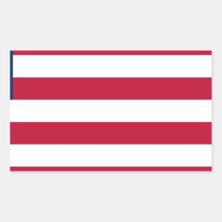 Adesivo Retangular Baixo custo! Bandeira de Liberia