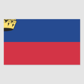 Adesivo Retangular Baixo custo! Bandeira de Liechtenstein