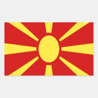 Adesivo Retangular Baixo custo! Bandeira de Macedónia