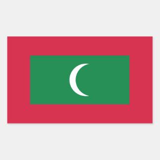 Adesivo Retangular Baixo custo! Bandeira de Maldives