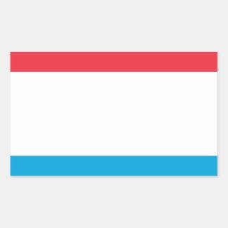 Adesivo Retangular Baixo custo! Luxembourg embandeira