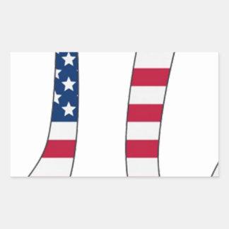 Adesivo Retangular Bandeira americana do dia do Pi, símbolo do pi