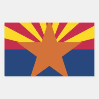 Adesivo Retangular Bandeira da arizona