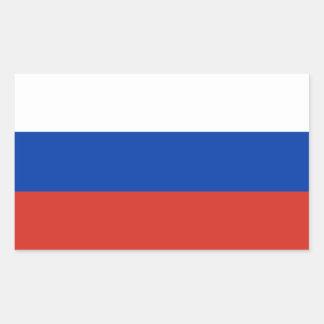 Adesivo Retangular Bandeira da Federação Russa