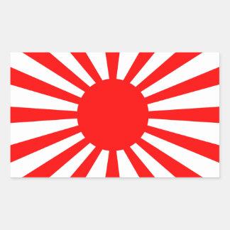 Adesivo Retangular Bandeira da guerra do exército de japonês imperial