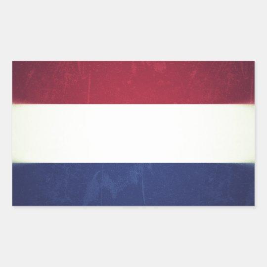 Adesivo Retangular Bandeira da Holanda
