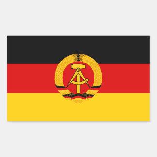 Adesivo Retangular Bandeira da RDA
