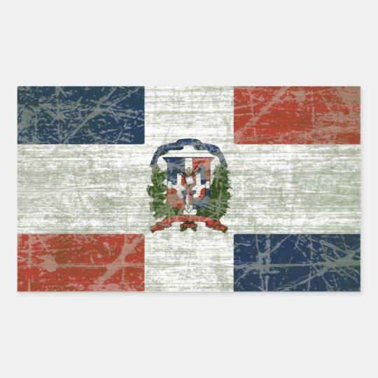 ADESIVO RETANGULAR BANDEIRA DA REPÚBLICA DOMINICANA