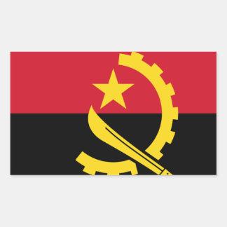 Adesivo Retangular Bandeira de Angola - Bandeira de Angola