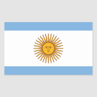 Adesivo Retangular Bandeira de Argentina - bandera de Argentina