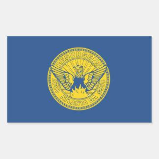 Adesivo Retangular Bandeira de Atlanta, Geórgia