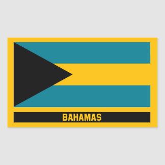 Adesivo Retangular Bandeira de Bahamas