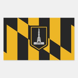 Adesivo Retangular Bandeira de Baltimore