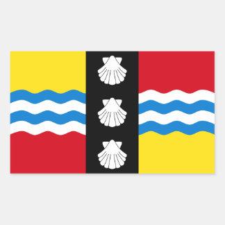 Adesivo Retangular Bandeira de Bedfordshire