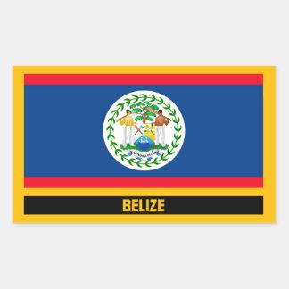 Adesivo Retangular Bandeira de Belize
