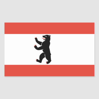 Adesivo Retangular Bandeira de Berlim
