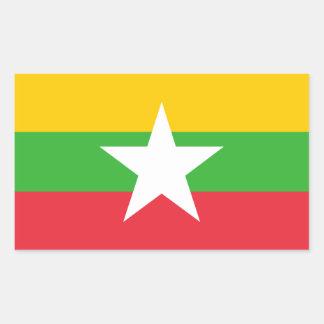 Adesivo Retangular Bandeira de Burma