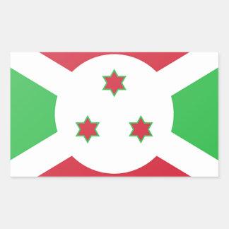 Adesivo Retangular Bandeira de Burundi