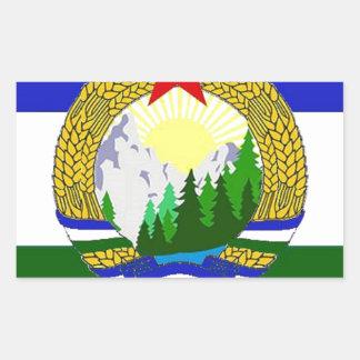 Adesivo Retangular Bandeira de Cascadia socialista