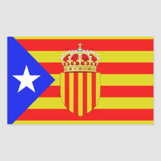Adesivo Retangular Bandeira de Catalonia