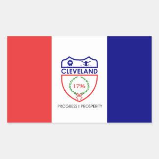 Adesivo Retangular Bandeira de Cleveland, Ohio
