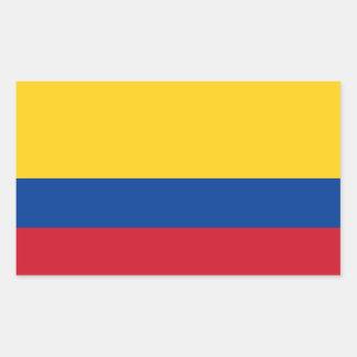 Adesivo Retangular Bandeira de Colômbia