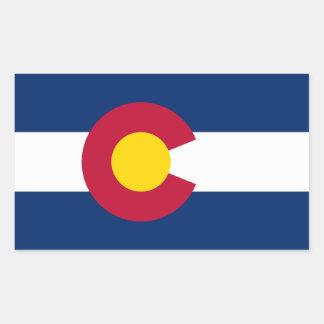 Adesivo Retangular Bandeira de Colorado