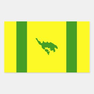 Adesivo Retangular Bandeira de Culebra