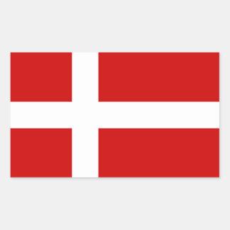 Adesivo Retangular Bandeira de Dinamarca