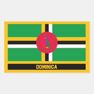 Adesivo Retangular Bandeira de Dominica