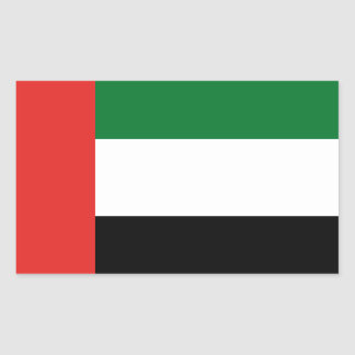 Adesivo Retangular Bandeira de Emiradosarabes