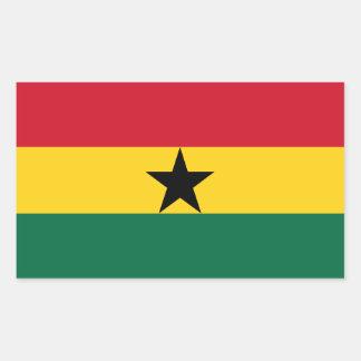 Adesivo Retangular Bandeira de Ghana
