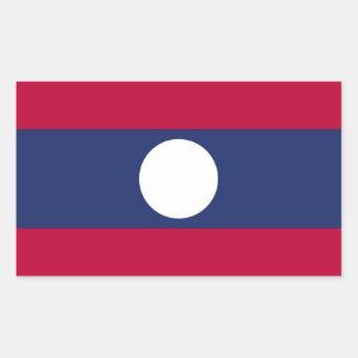 Adesivo Retangular Bandeira de Laos