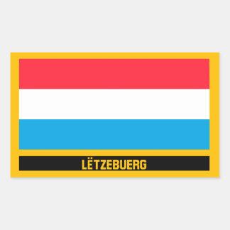 Adesivo Retangular Bandeira de Lëtzebuerg
