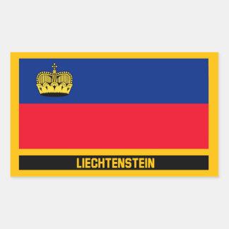 Adesivo Retangular Bandeira de Liechtenstein