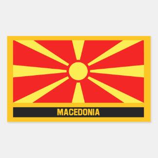 Adesivo Retangular Bandeira de Macedónia